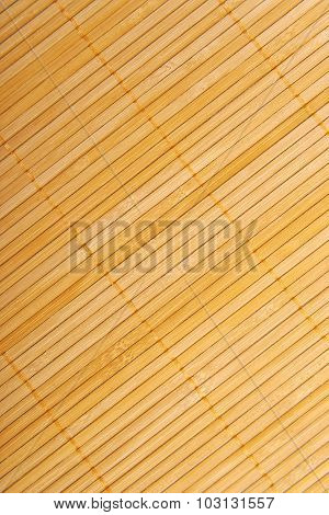 Bamboo brown straw mat as abstract texture background compositio
