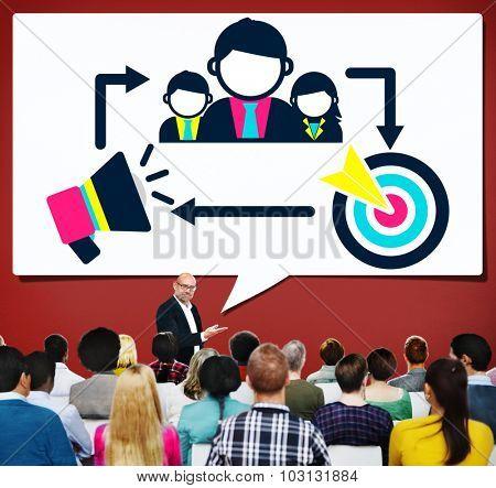 Coaching Leadership Mentoring Target Concept