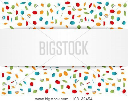 Background With Confetti
