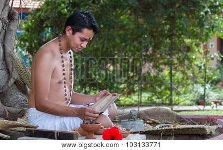 Ayurvedic Doctor with Text