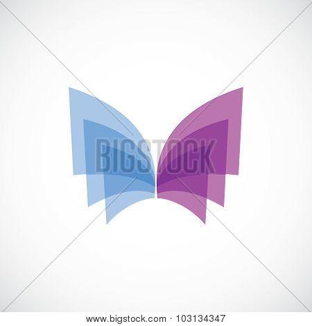 Butterfly Wings Logo