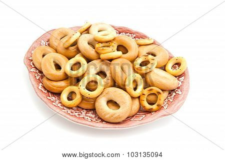Bagels On A Dish