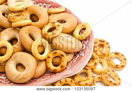 Different Bagels On A Dish