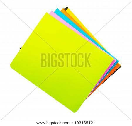Colorful copybooks, top view