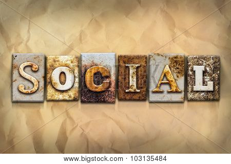Social Concept Rusted Metal Type