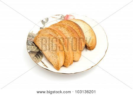 Some Crackers On A Plate