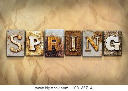 Spring Concept Rusted Metal Type