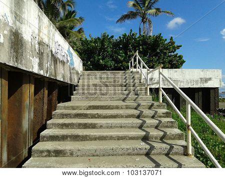 Escaleras en la playa