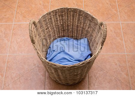 Washing Clothes In The Laundry Basket