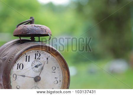 Old mechanical alarm watch