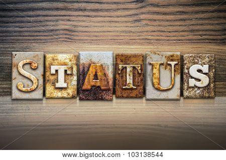 Status Concept Letterpress Theme