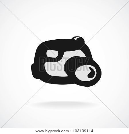 Digital Camera Logo. Cartoon Shapes Style.