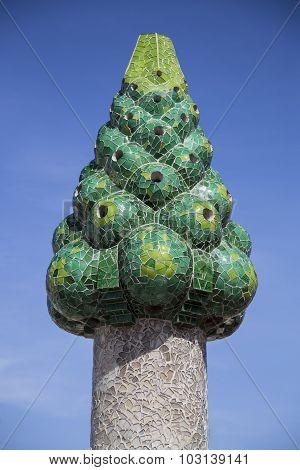 Green Gaudi Chimney