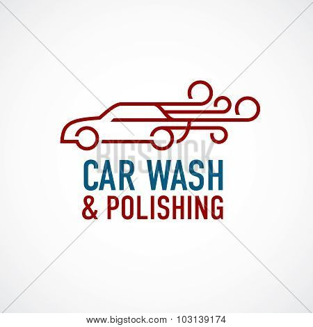 Car Wash And Polishing Logo Template.