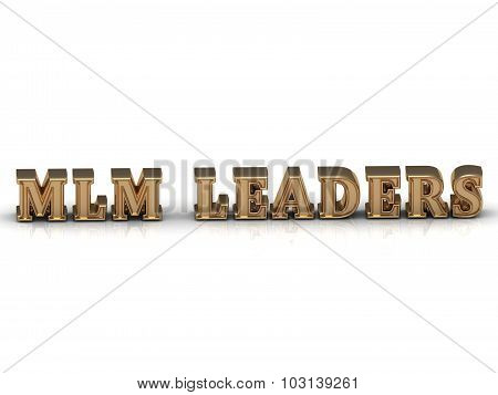 Mlm Leaders - Bright Gold Letters