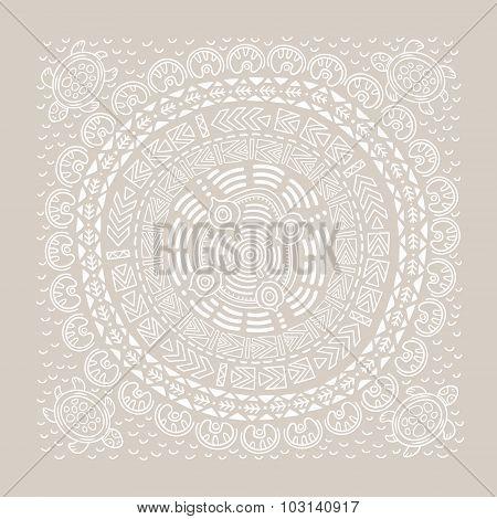 Beautiful ethnic circular ornament