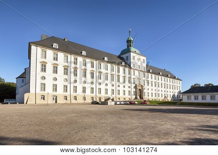 Schleswig, Germany - September 27, 2015: Gottorf Castle, built in the late 17th century, since 2006 seat of the State Art and Cultural History Museum