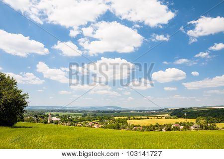 Typical Central European Rural Countryside