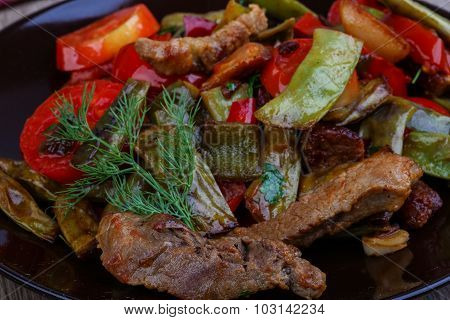 Stir Fried Pork With Vegetables