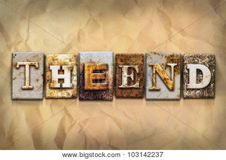 The End Concept Rusted Metal Type