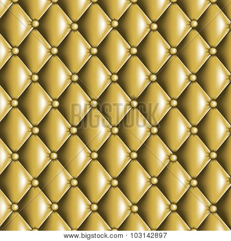 Gold Quilted Texture