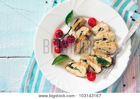 Chicken Fillet Baked With Parsley, Top View