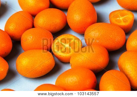 Delicious mandarin on the table