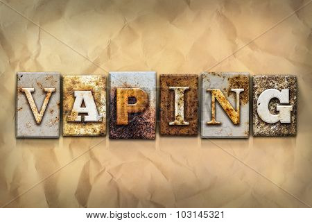 Vaping Concept Rusted Metal Type