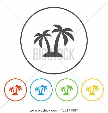 Palm Icon. Vector  Eps 10