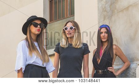 People Gather Outside Etro Fashion Show Building In Milan, Italy
