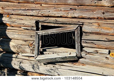Old Timbered Felling. A Window