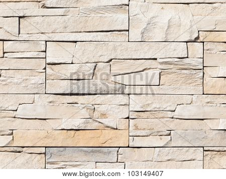 Wall Made Of Artificial Stone