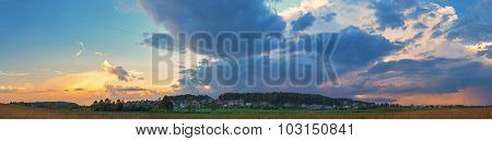 Panoramic Rural Landscape