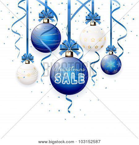 Christmas Sale On Blue Ball