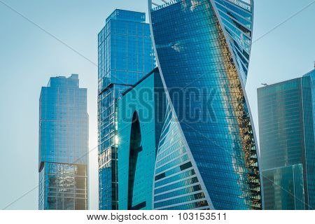 Moscow, Russia - August 31, 2015: The Moscow International Business Center in Moscow. MIBC is one of the largest construction projects in Europe