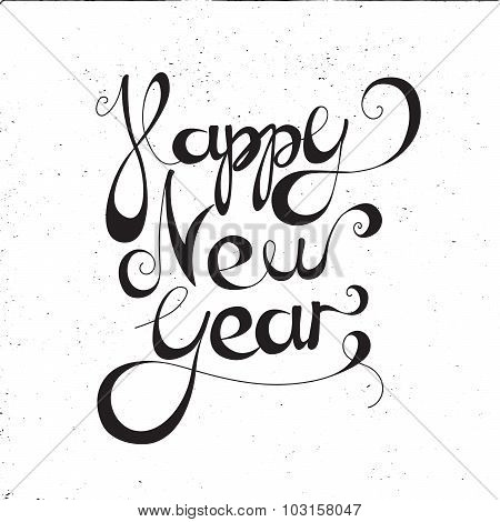Calligraphic New Year Lettering