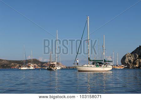 Knidos coast near Marmaris, Turkey.
