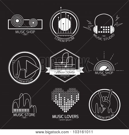 Music logos and signs