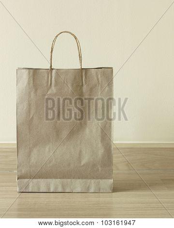Brown Paper Bag On The Floor