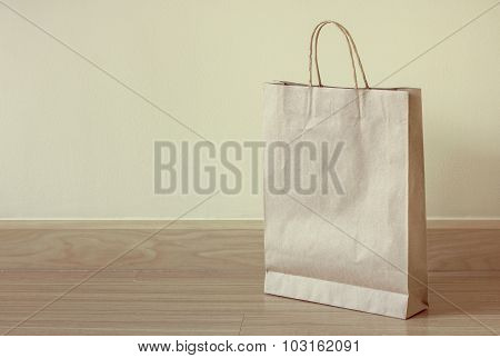 Brown Paper Bag On The Floor