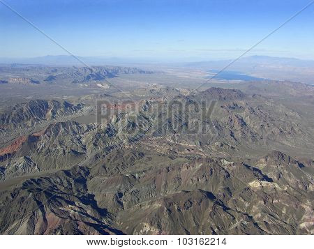 Mountain Region Of Nevada Near Lake Mead