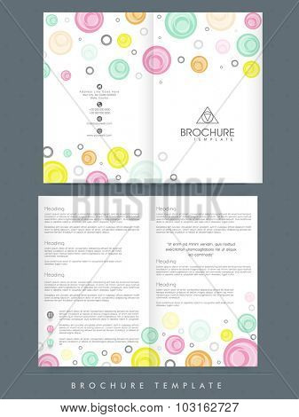 Creative professional Brochure, Template or Flyer presentation decorated with colorful spirals for your Business.