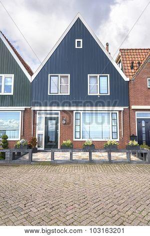 Houses in Volendam, Netherlands.