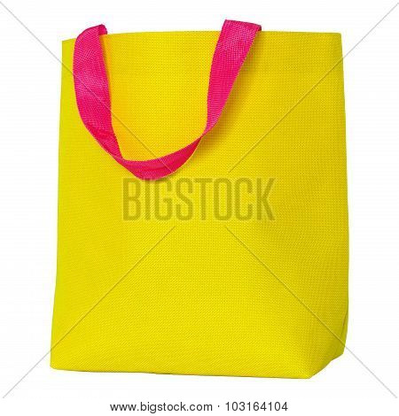 Yellow Shopping Bag Isolated On White