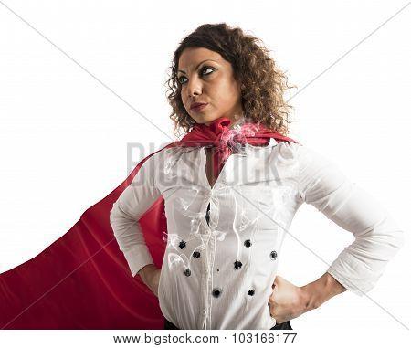 Invincible businesswoman