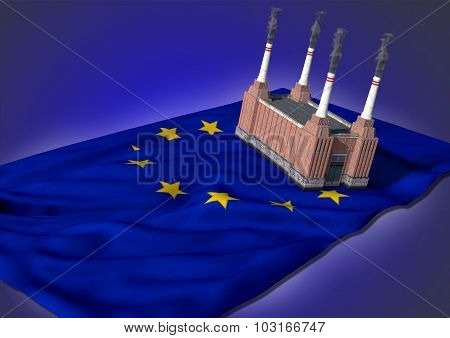 national heavy industry concept - EU theme