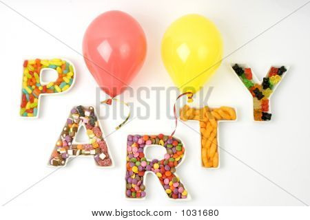 Childrens Party And Balloons