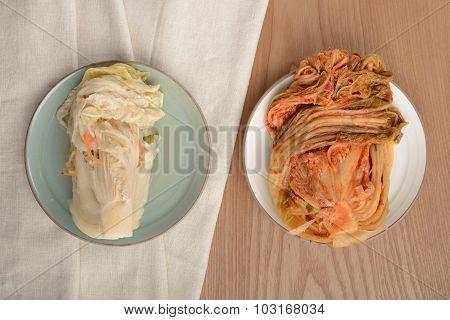 Gimchi(kimchi) And Baek-gimchi(white Gimchi)