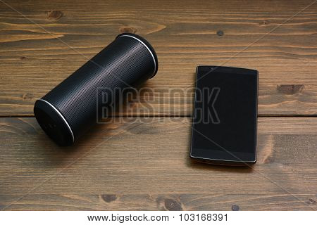 Smartphone And Wireless Speaker