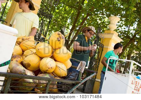 coconut street vendor